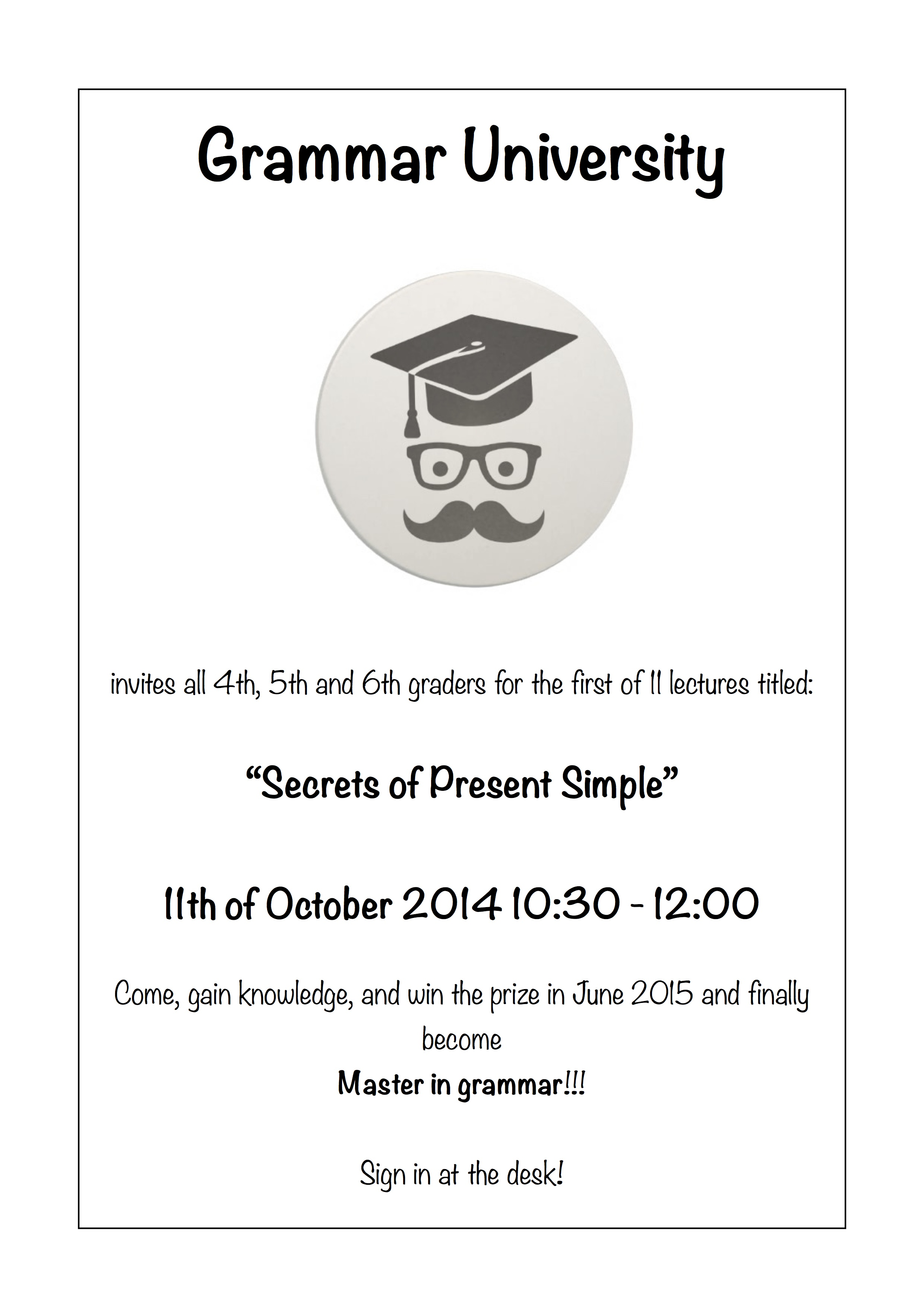 grammar academy poster