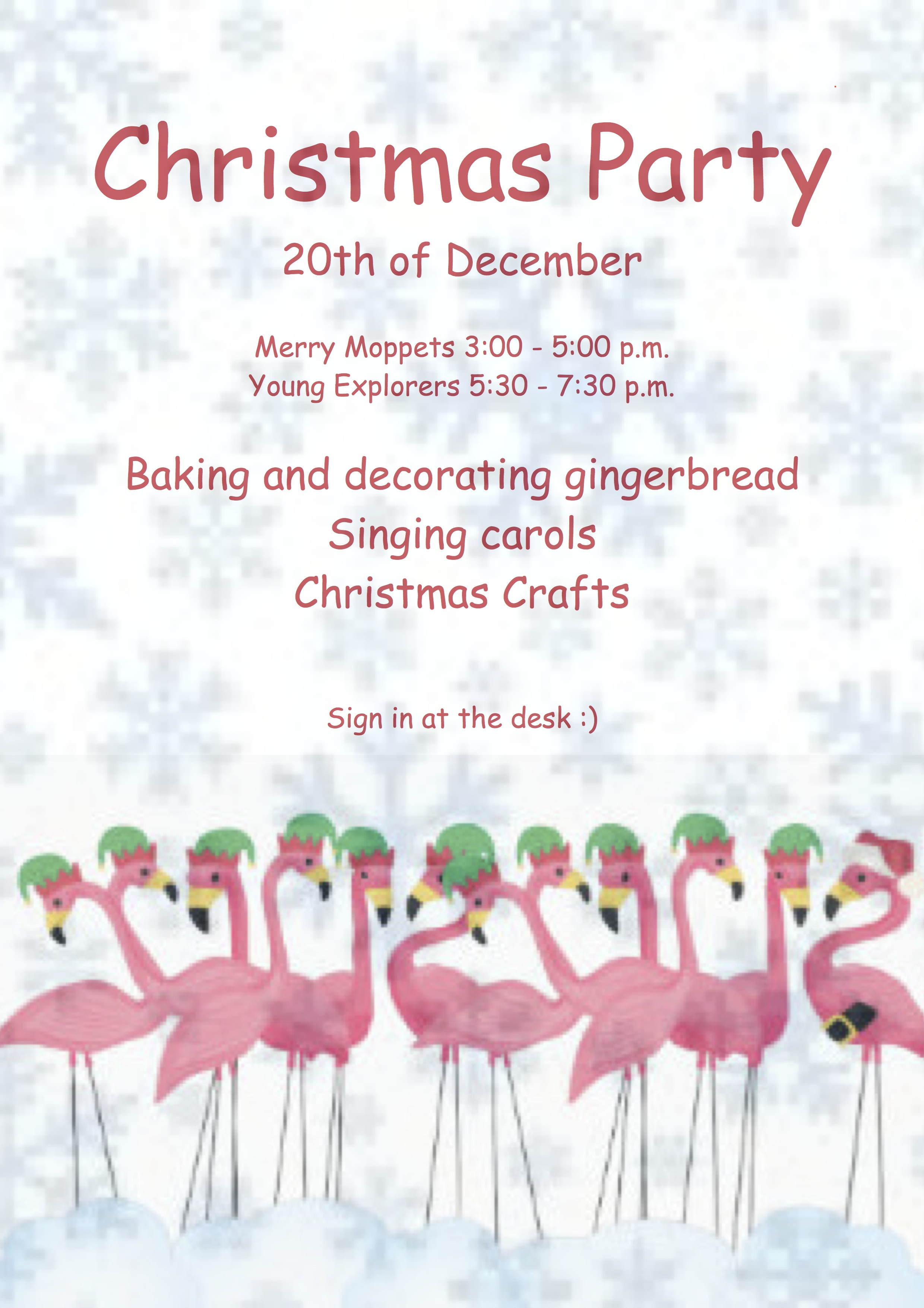 christmas party advert