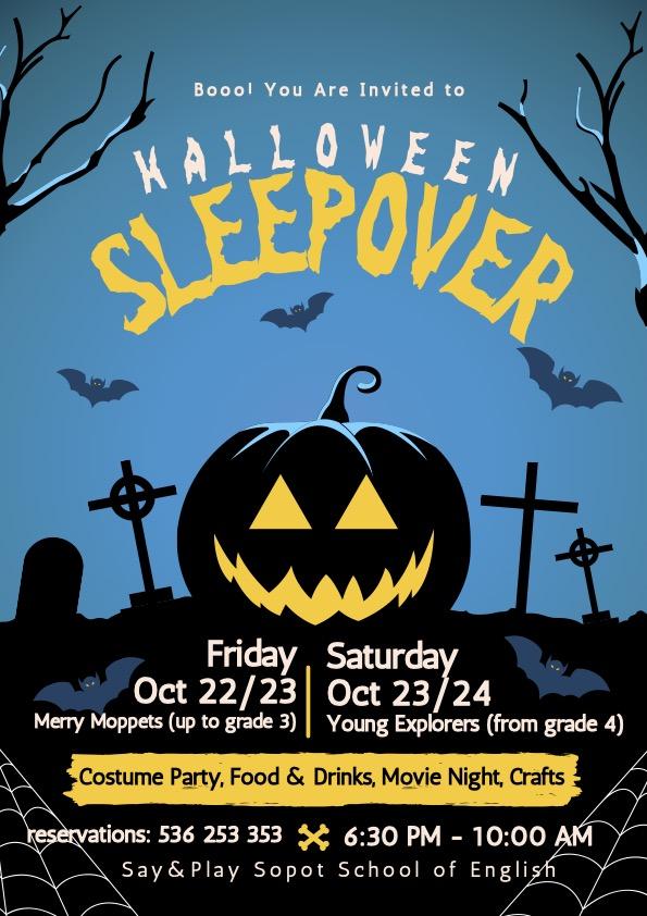 Blue Illustrative Spooky Halloween Party Event Flyer